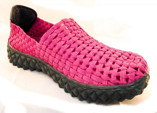 Adesso all elastic upper fun WASHED FUCHSIA PINK summer shoe.